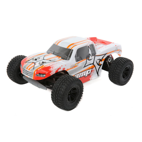 ECX 1/10 AMP MT 2WD Monster Truck Brushed RTR, White/Orange-Cars & Trucks-Mike's Hobby