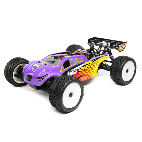 Losi 8IGHT-T 4WD Truggy Nitro RTR, Purple/Yellow-Cars & Trucks-Mike's Hobby