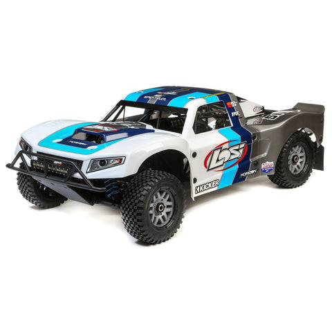 Losi 5IVE-T 2.0 V2: 1/5 4wd SCT Gas BND Gry/Blu/Wht-Cars & Trucks-Mike's Hobby