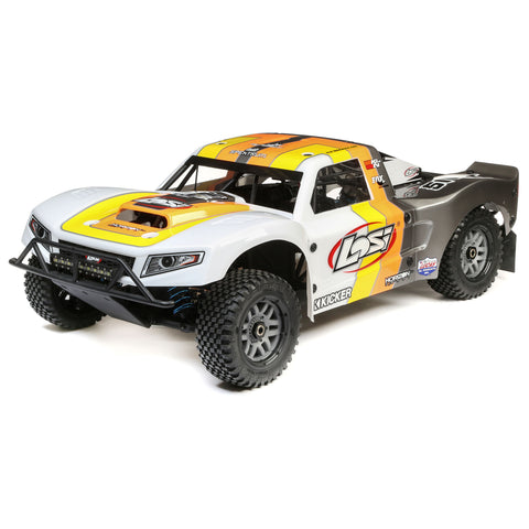 Losi 5IVE-T 2.0 V2: 1/5 4wd SCT Gas BND Gry/Org/Wht-Cars & Trucks-Mike's Hobby