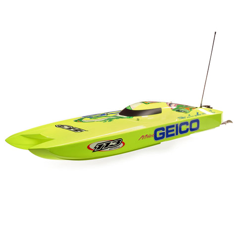 Pro-Boat Miss GEICO Zelos 36 Twin Brushless Catamaran: RTR-Boats-Mike's Hobby