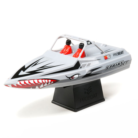 "Pro-Boat Sprintjet 9"" Self-Righting Jet Boat Brushed RTR, Silver-Boats-Mike's Hobby"