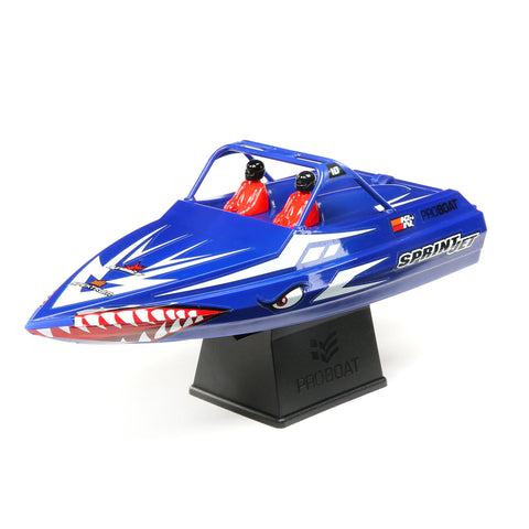 "Pro-Boat Sprintjet 9"" Self-Righting Jet Boat Brushed RTR, Blue-Boats-Mike's Hobby"
