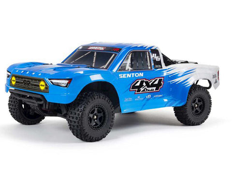 Arrma Senton 4x4 V3 550 Mega RTR 1/10 Short Course Truck (Blue) w/Spektrum SLT3 2.4GHz Radio-Cars & Trucks-Mike's Hobby