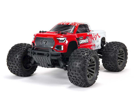 Arrma Granite 4X4 V3 3S BLX 1/10 RTR Brushless 4WD Monster Truck (Red) w/Spektrum SLT3 2.4GHz Radio-Cars & Trucks-Mike's Hobby
