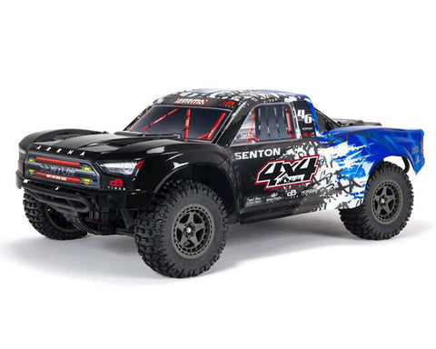 Arrma Senton 4X4 V3 3S BLX 1/10 RTR Brushless Short Course Truck (Blue) w/Spektrum SLT3 2.4GHz Radio-Cars & Trucks-Mike's Hobby