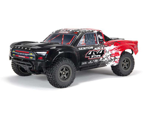 Arrma Senton 4X4 V3 3S BLX 1/10 RTR Brushless Short Course Truck (Red) w/Spektrum SLT3 2.4GHz Radio-Cars & Trucks-Mike's Hobby