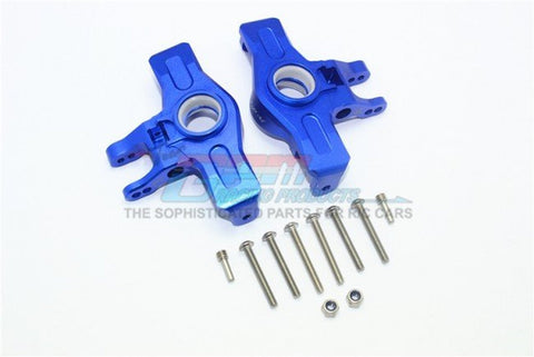 Aluminum Front Knuckle Arms(2) Blue-RC CAR PARTS-Mike's Hobby