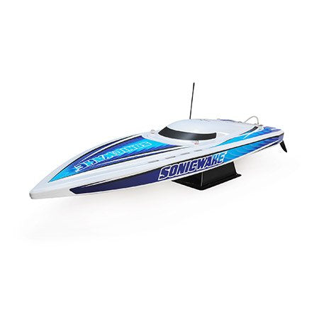 "PRB08032T1 36"" Sonicwake,Wht,Self-Right Deep-V Brushless RTR-RC BOAT-Mike's Hobby"