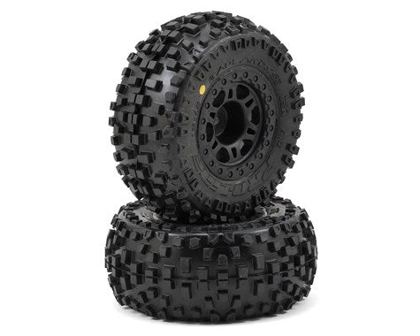 Pro-Line Badlands SC Tires w/Split Six Wheels (2) (Slash Rear)-RC Car Tires and Wheels-Mike's Hobby