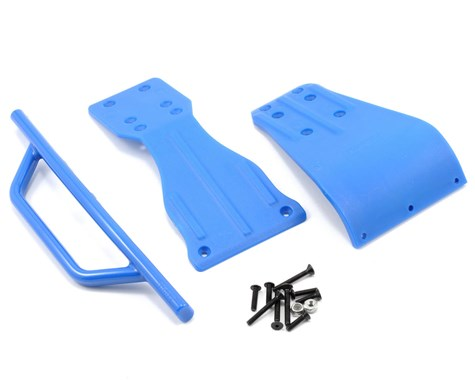 RPM Front Bumper Skid Plate & Chassis Brace Set (SC10)-RC CAR PARTS-Mike's Hobby