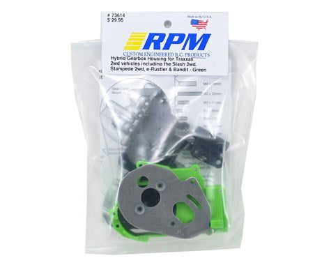 RPM Hybrid Gearbox Housing & Rear Mount Kit (Green)-PARTS-Mike's Hobby
