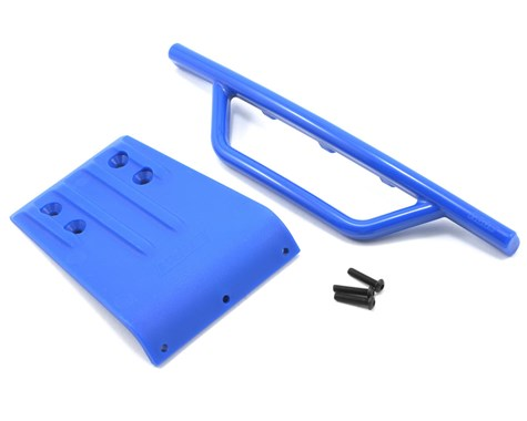 RPM Traxxas Slash Front Bumper & Skid Plate (Blue)-RC CAR PARTS-Mike's Hobby