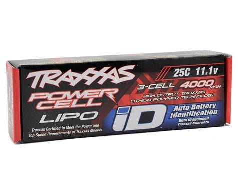 "Traxxas 3S ""Power Cell"" 25C LiPo Battery w/iD Traxxas Connector (11.1V/4000mAh)-Mike's Hobby"