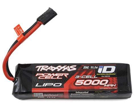 "Traxxas 3S ""Power Cell"" 25C LiPo Battery w/iD Traxxas Connector (11.1V/5000mAh)-Mike's Hobby"