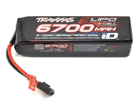 "Traxxas 4S ""Power Cell"" 25C LiPo Battery w/iD Traxxas Connector (14.8V/6700mAh)-Mike's Hobby"