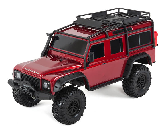 Traxxas TRX-4 1/10 Scale Trail Rock Crawler w/Land Rover Defender Body-Cars & Trucks-RED-Mike's Hobby