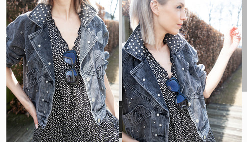 Get the look - Dots & denim!