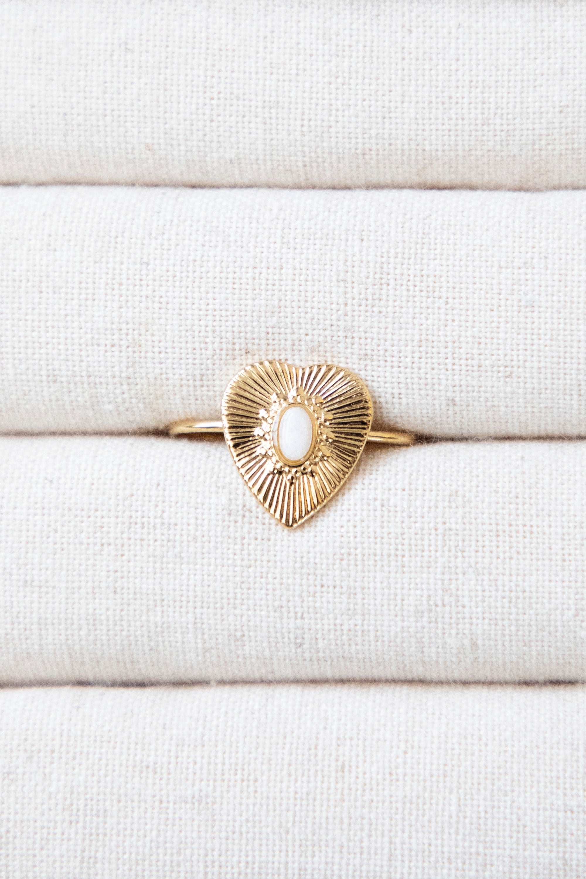 Lovestoned White/Gold - Ring