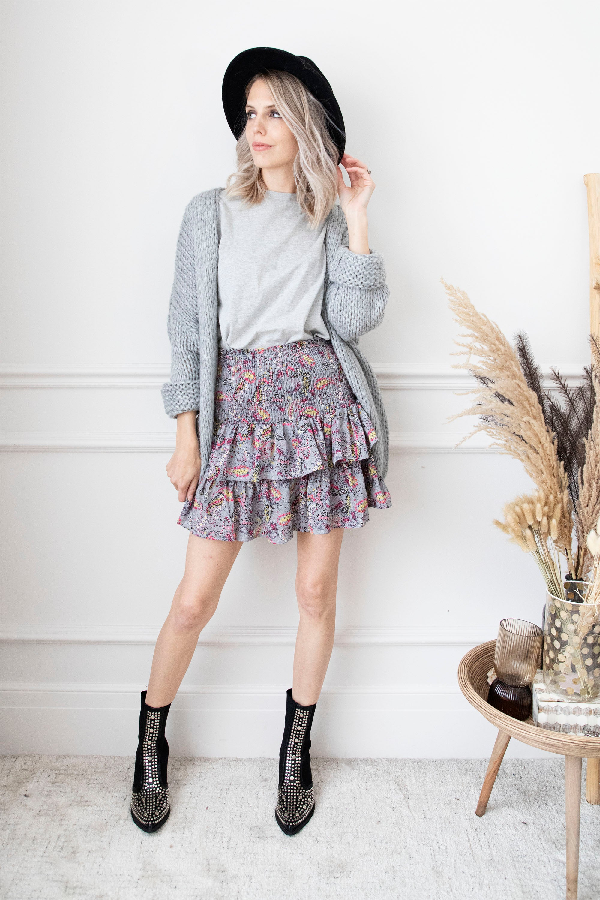 Happy Layered Paisley Grey Mix - Rok