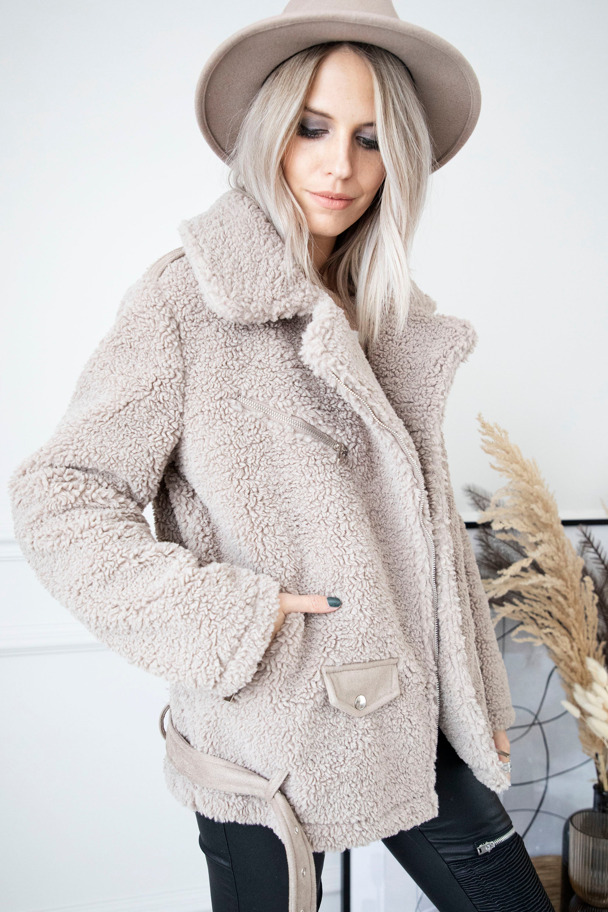 Casual Teddy Taupe - Jacket