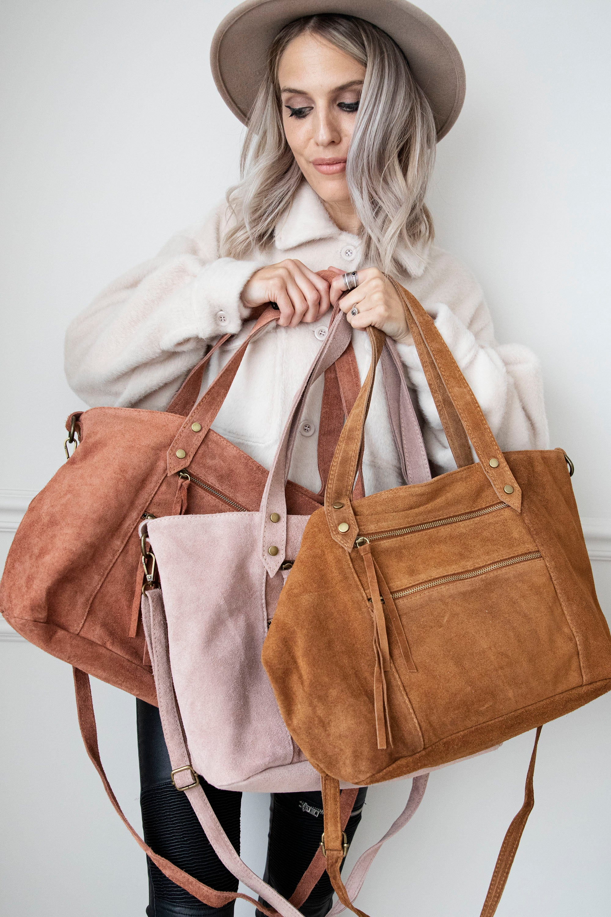 It's Real Love Dusty Rose/Leather - Handtas