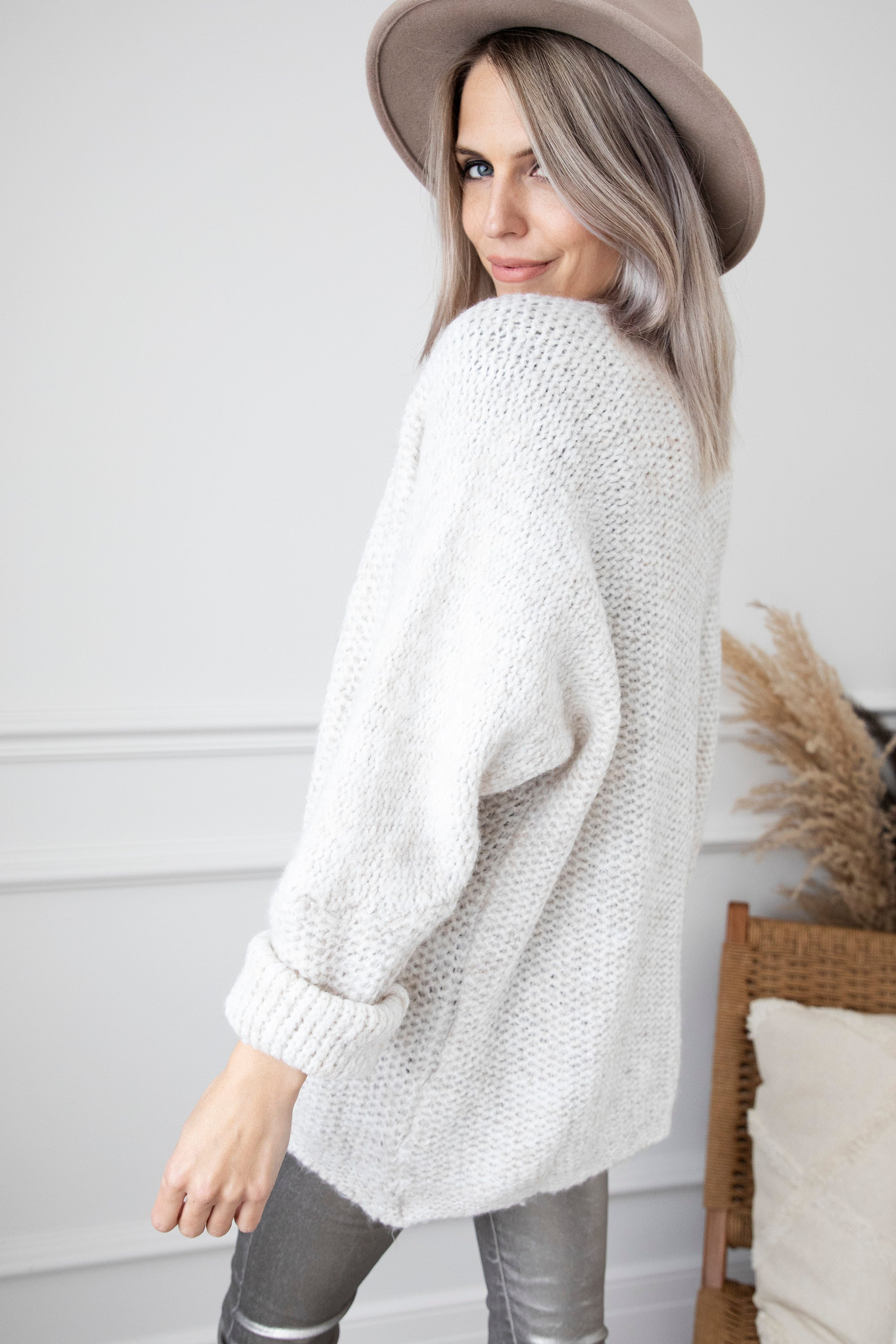 Knitted Kamilla Off White - Gilet