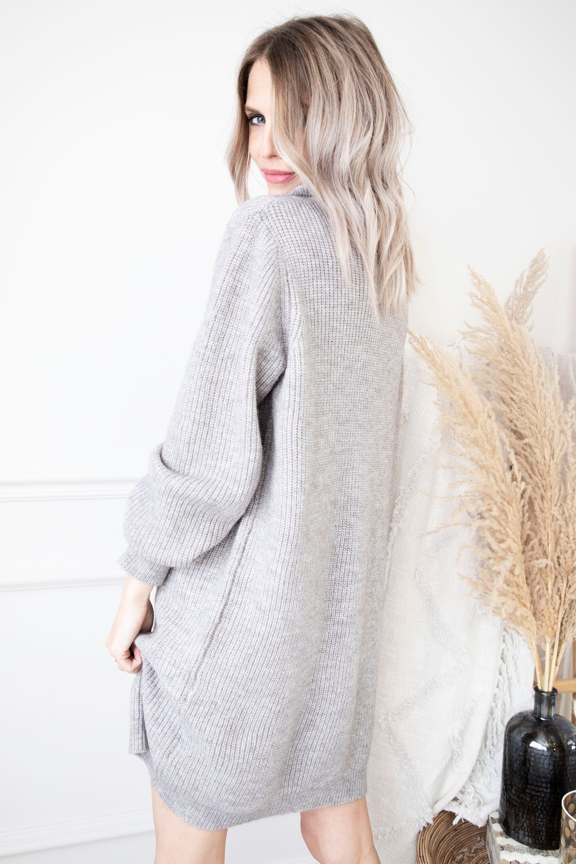 Cozy Sam Grey - Sweater Dress