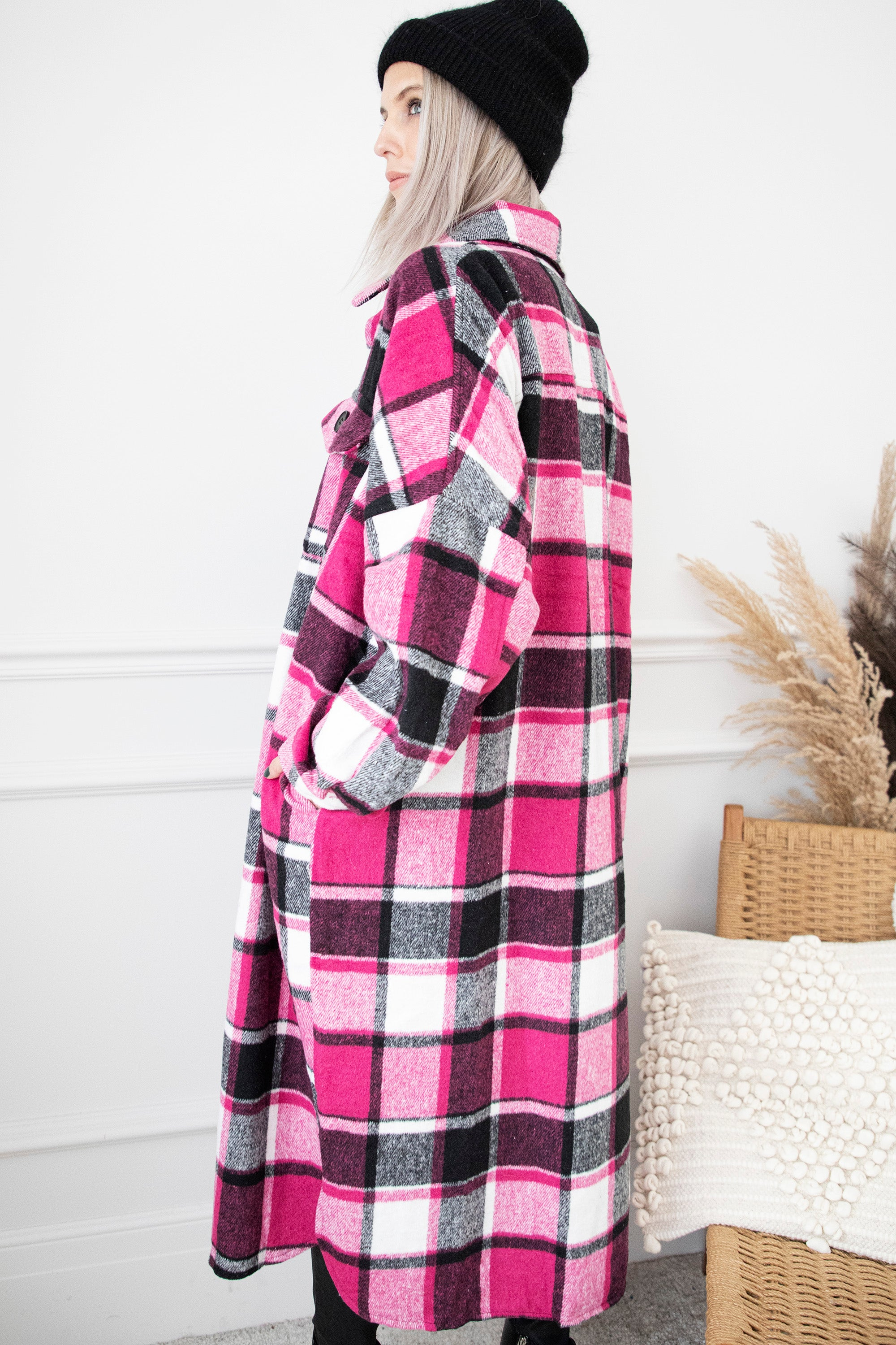 Dress Like A Lumberjack Fuchsia - Gilet/Jurk