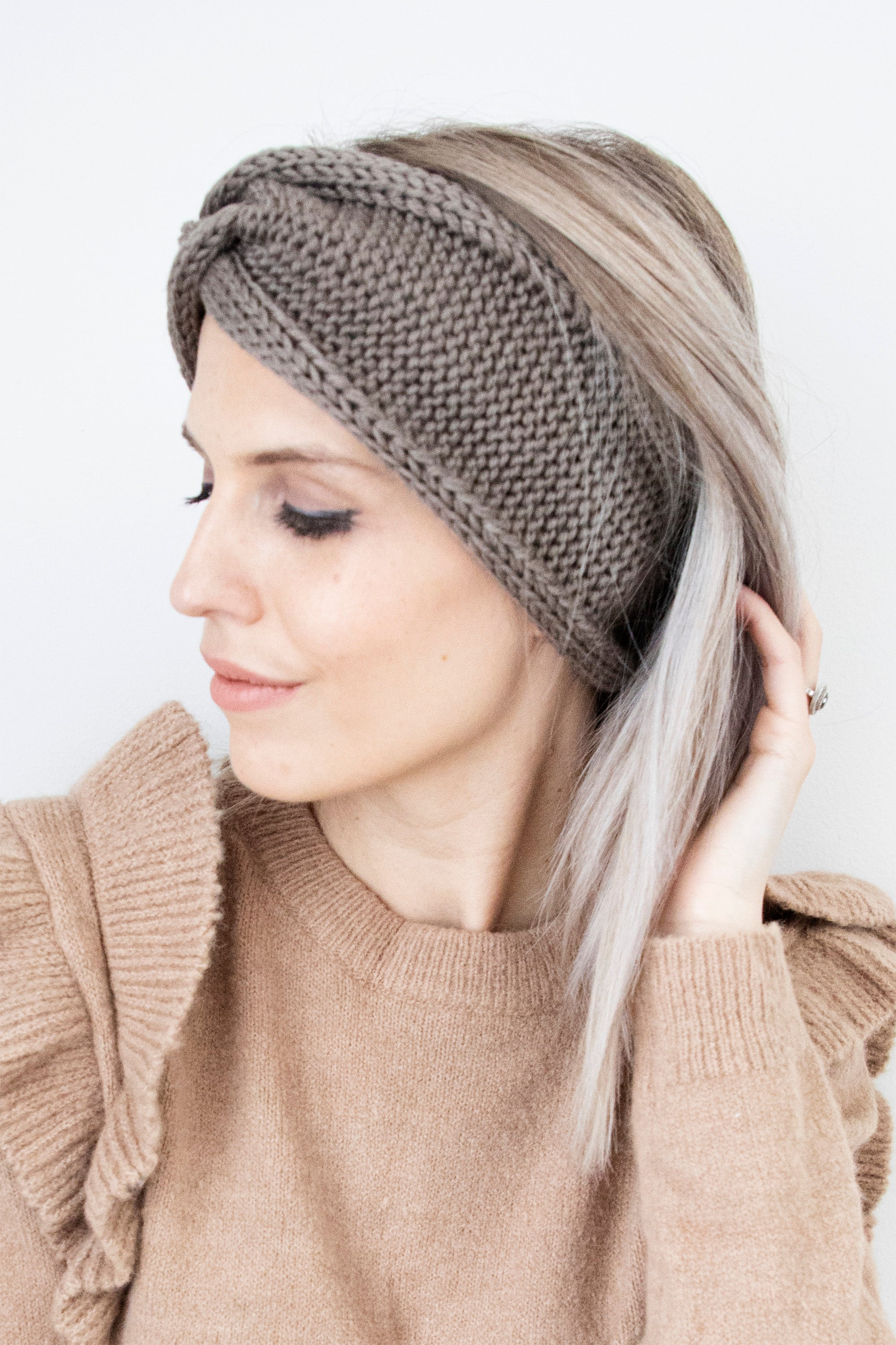 Keep Your Ears Warm Taupe - Haarband