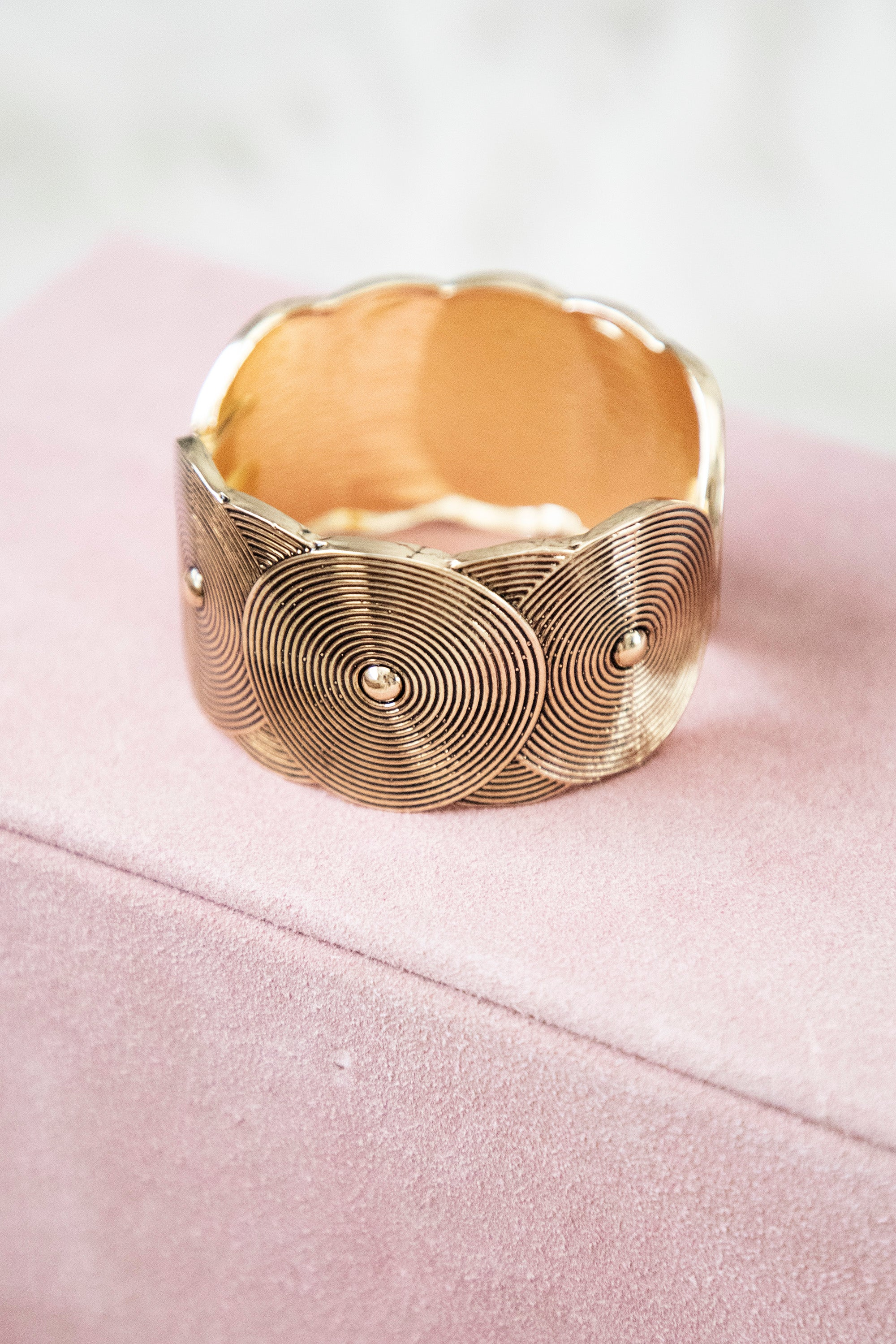 Going Round In Circles Gold - Armband