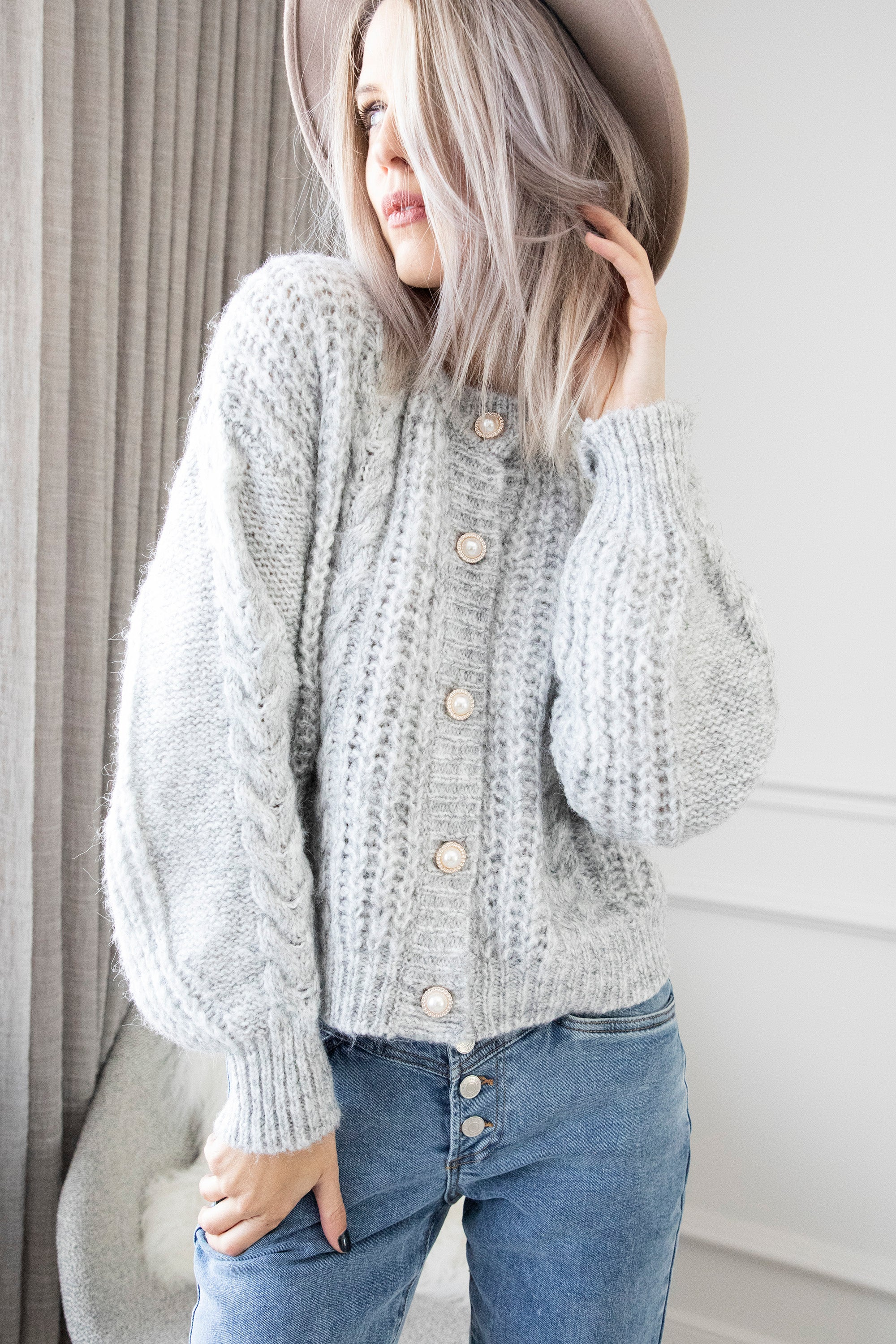 Pearly Piper Grey - Gilet