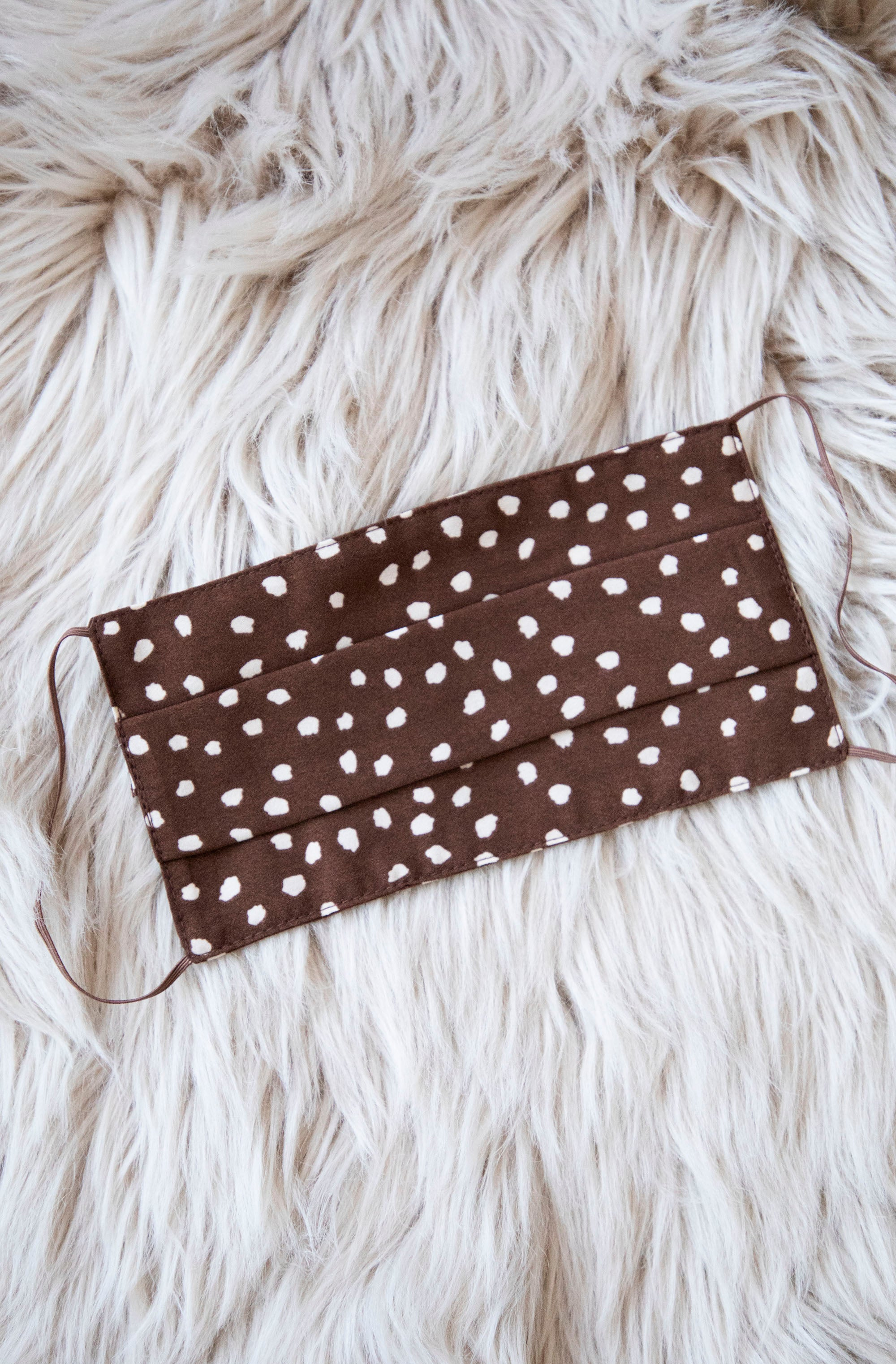 Spots & Space Brown/Cream - Mondkapje