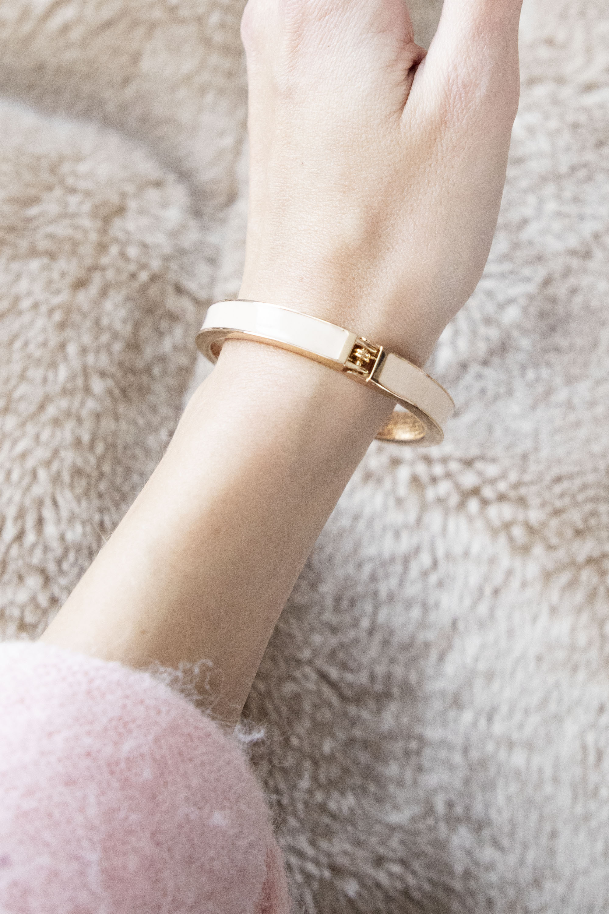 This Is My Mood Today Beige/Gold - Armband