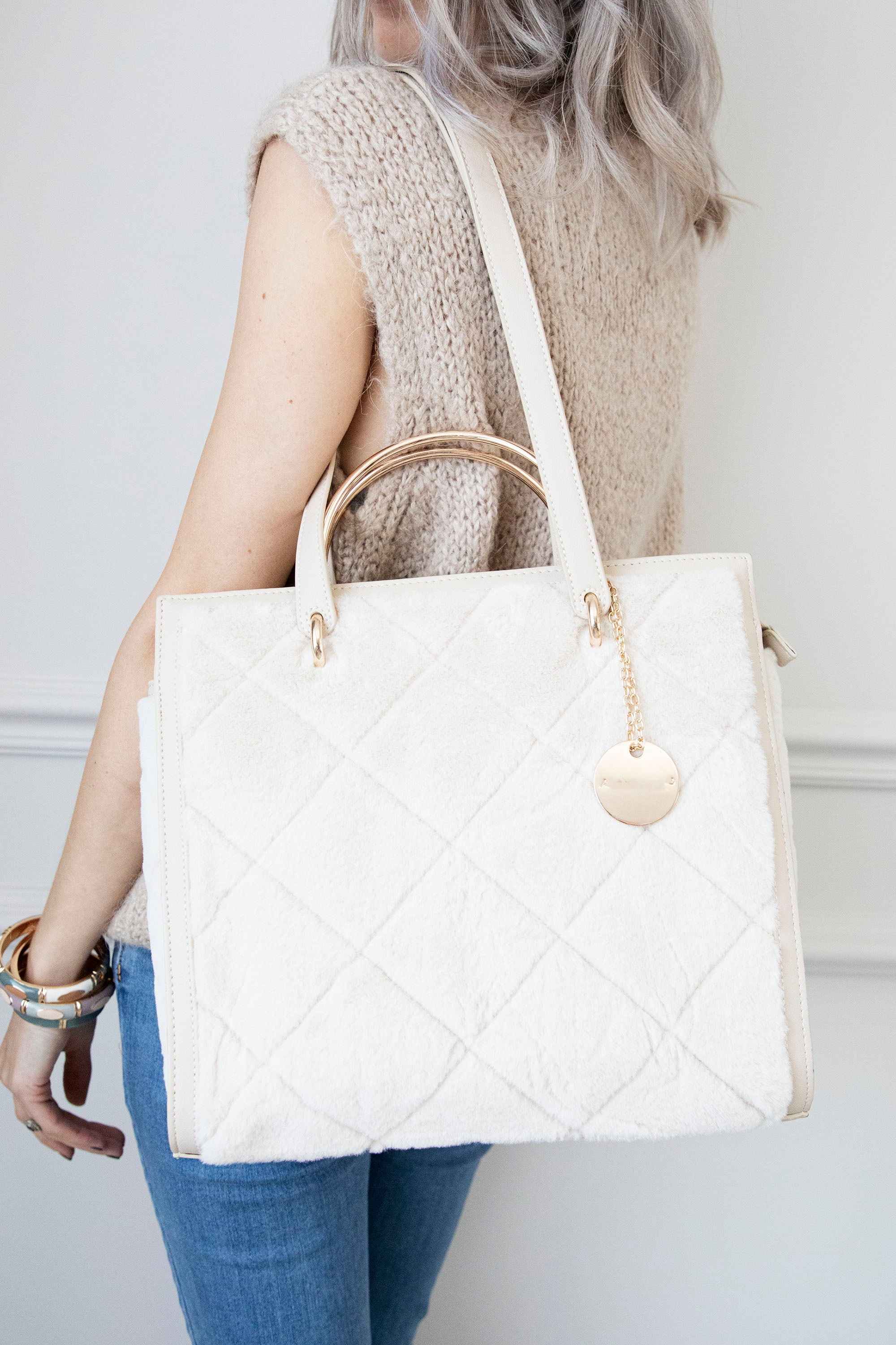 Winter Chic Cream - Handtas