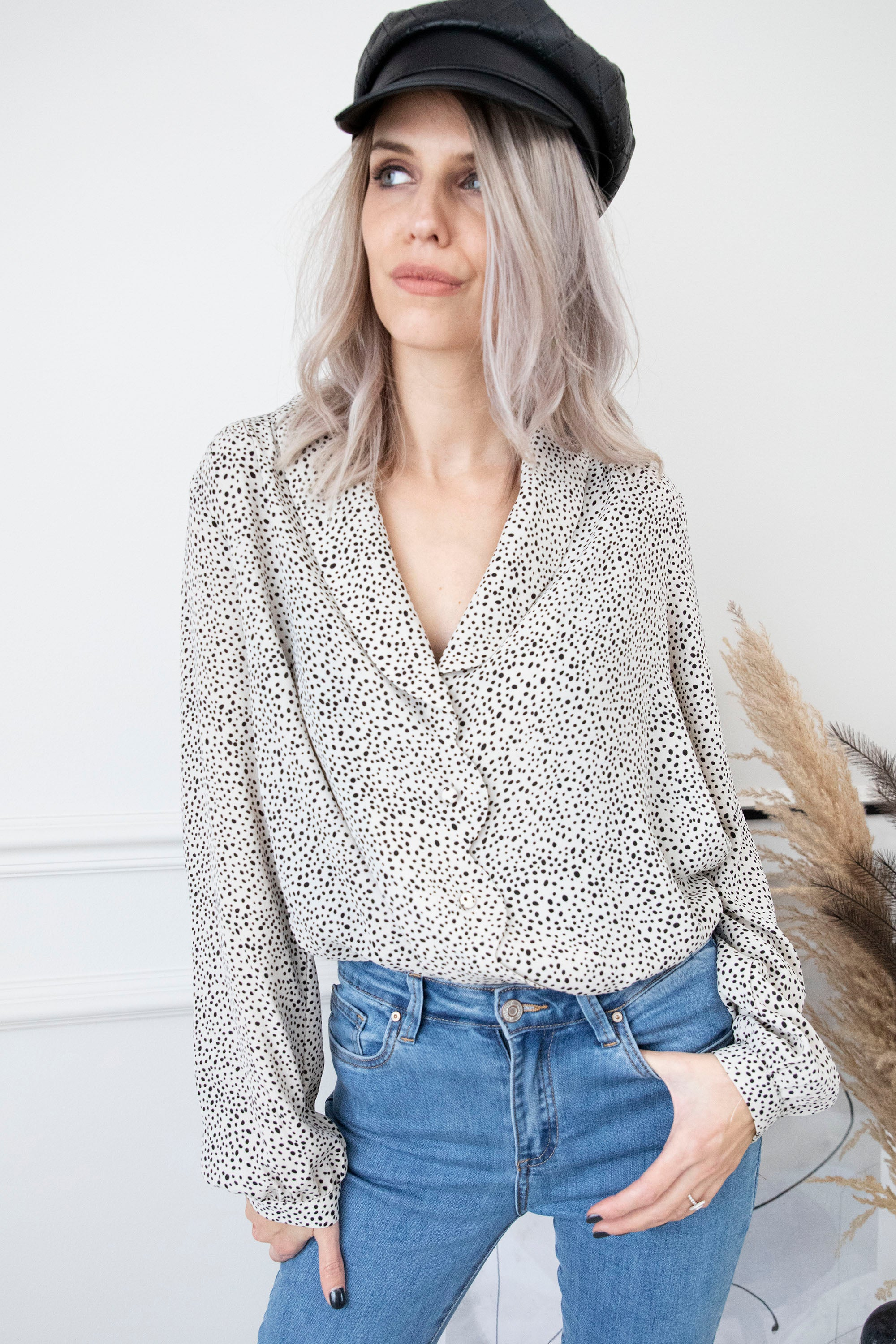 Blinded By Dots Cream - Blouse