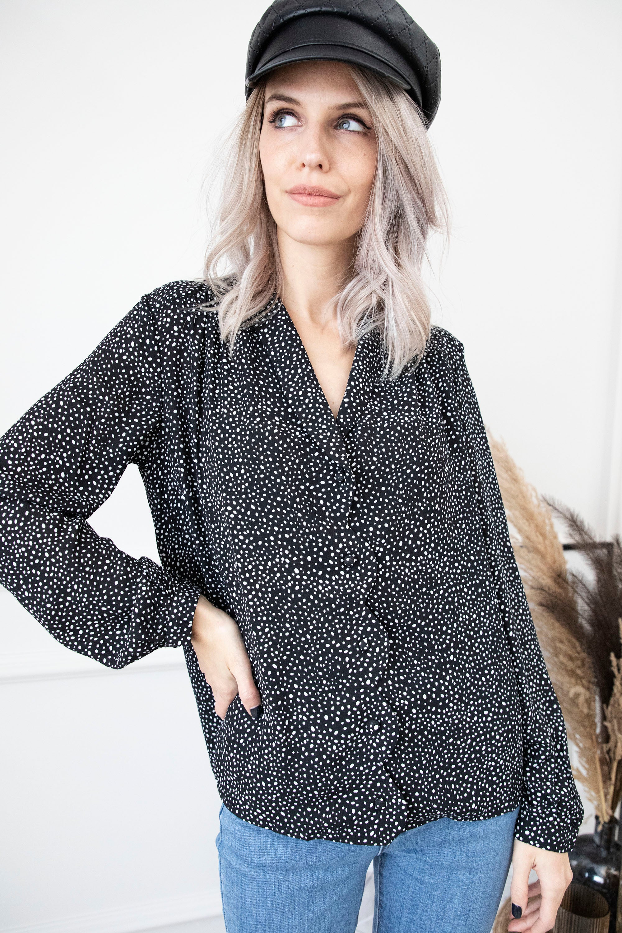 Blinded By Dots Black - Blouse