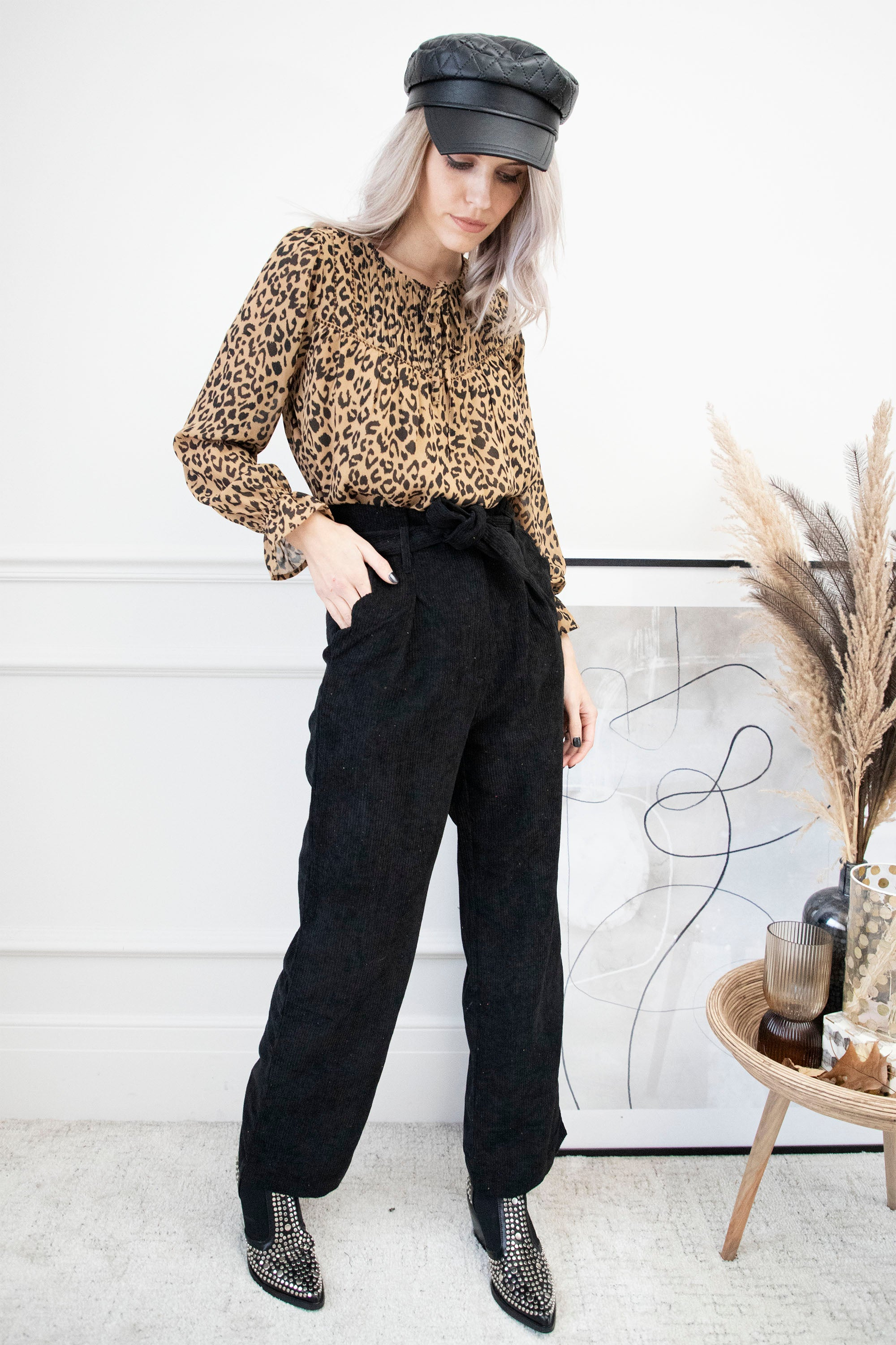 Never Cold In Corduroy Black - Broek