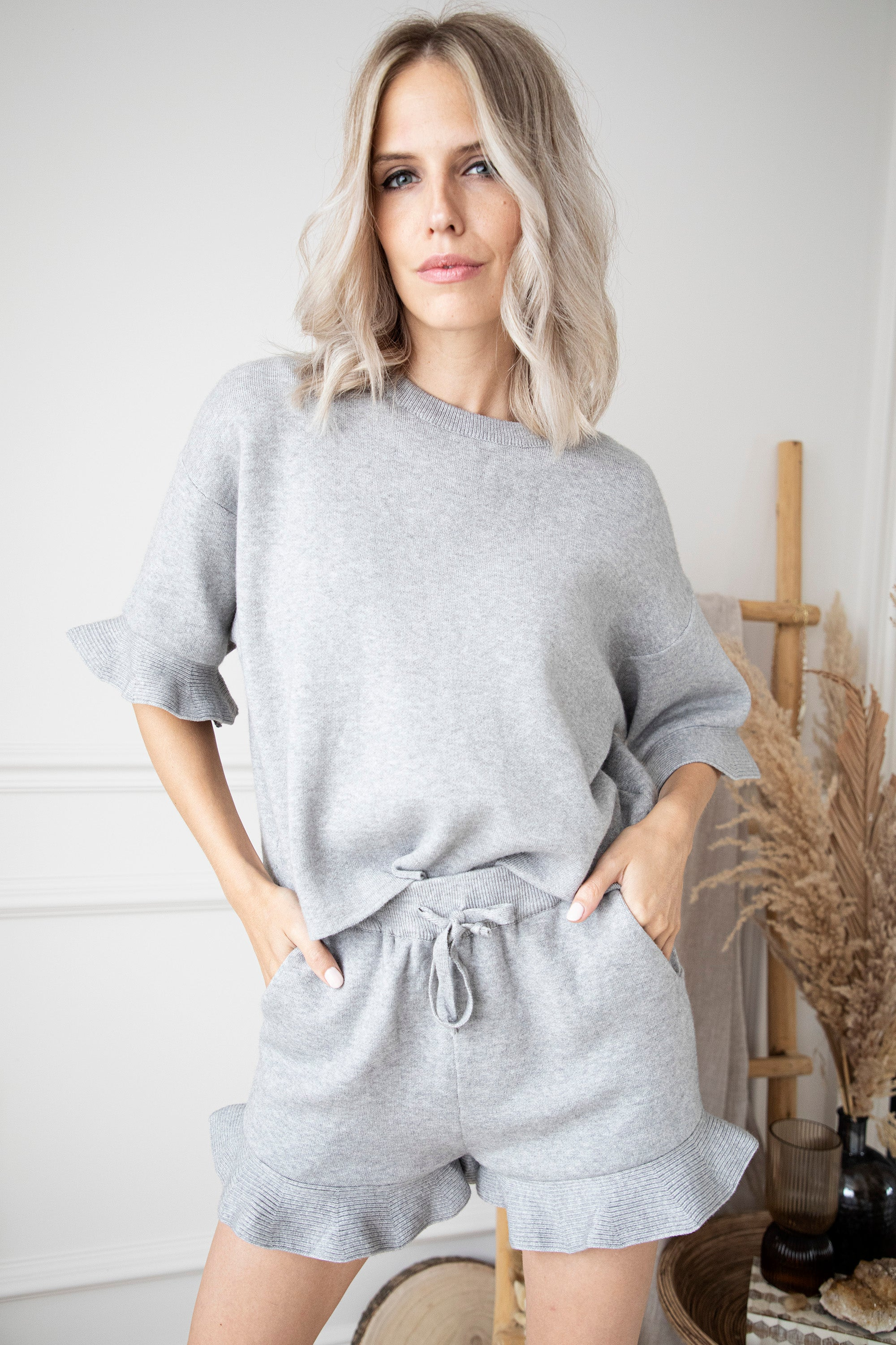 Stay At Home Grey - Comfy Set