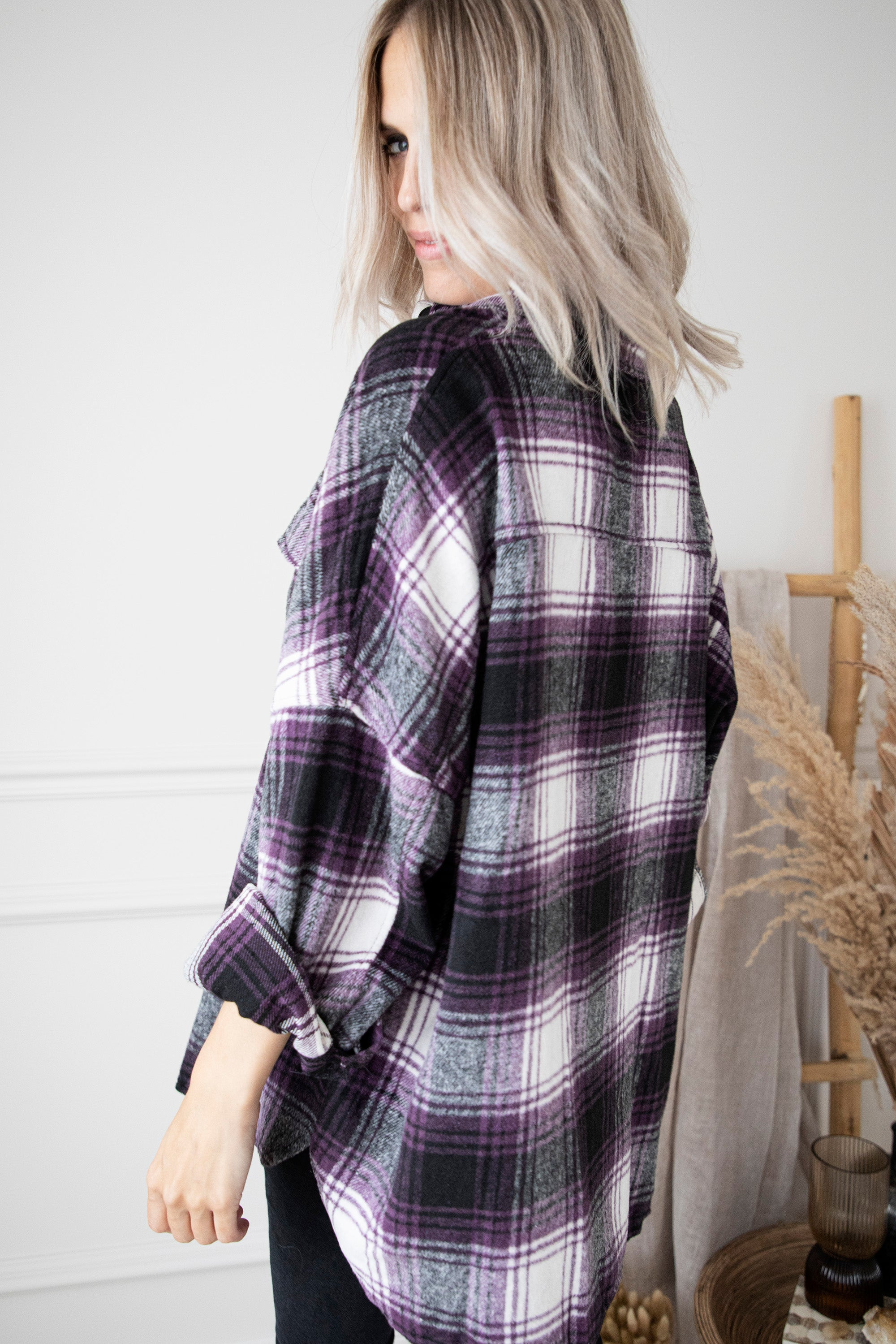 Lumberjack Lady Purple - Blouse/Gilet