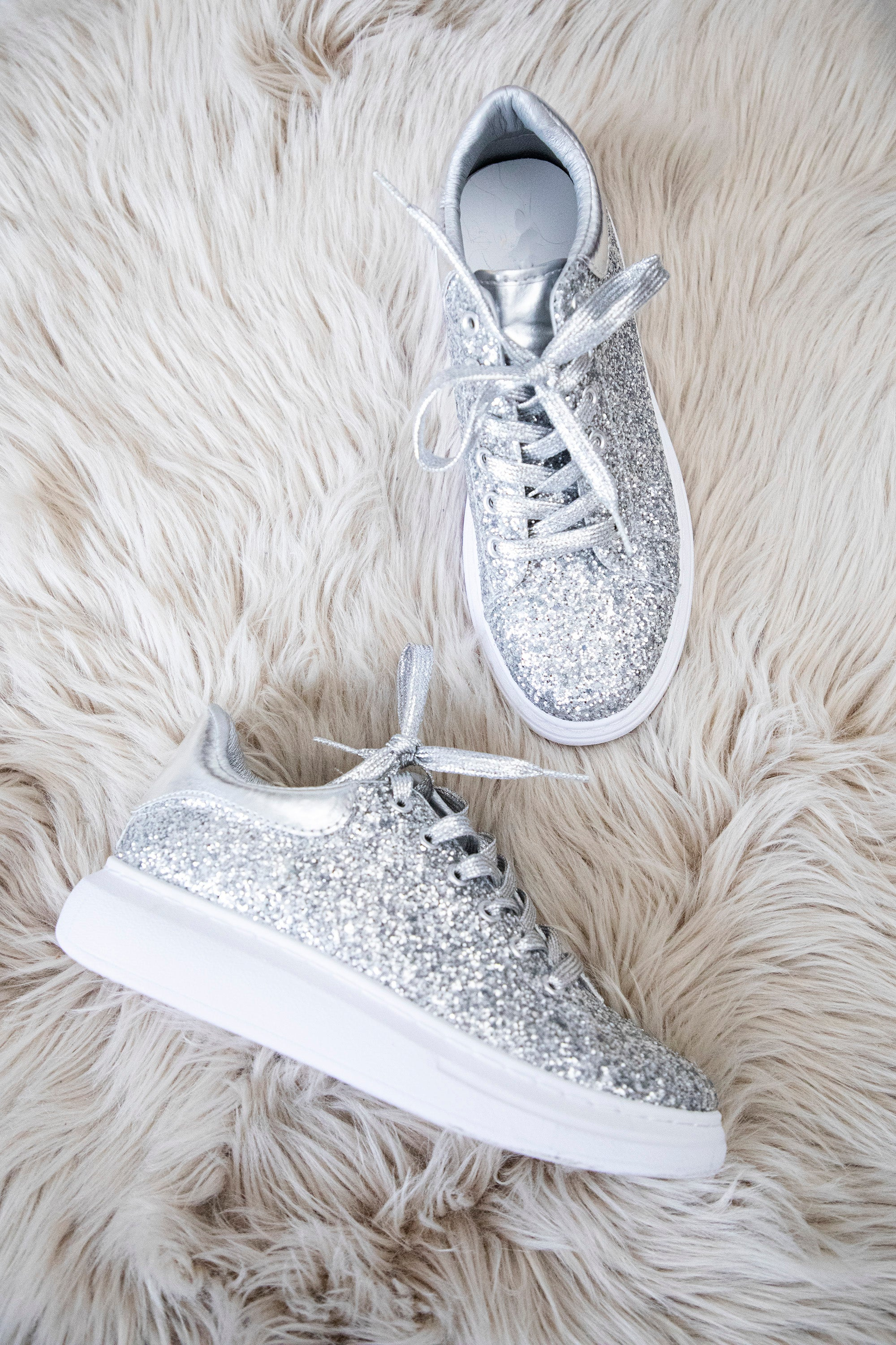 You Were Born To Sparkle Silver - Sneakers