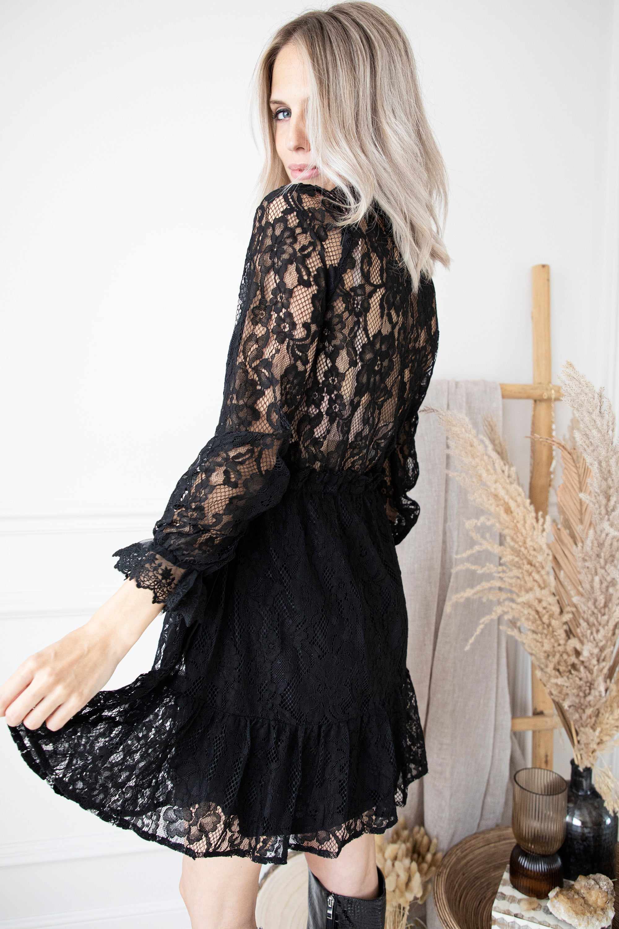 Fall For Lace Black - Jurk