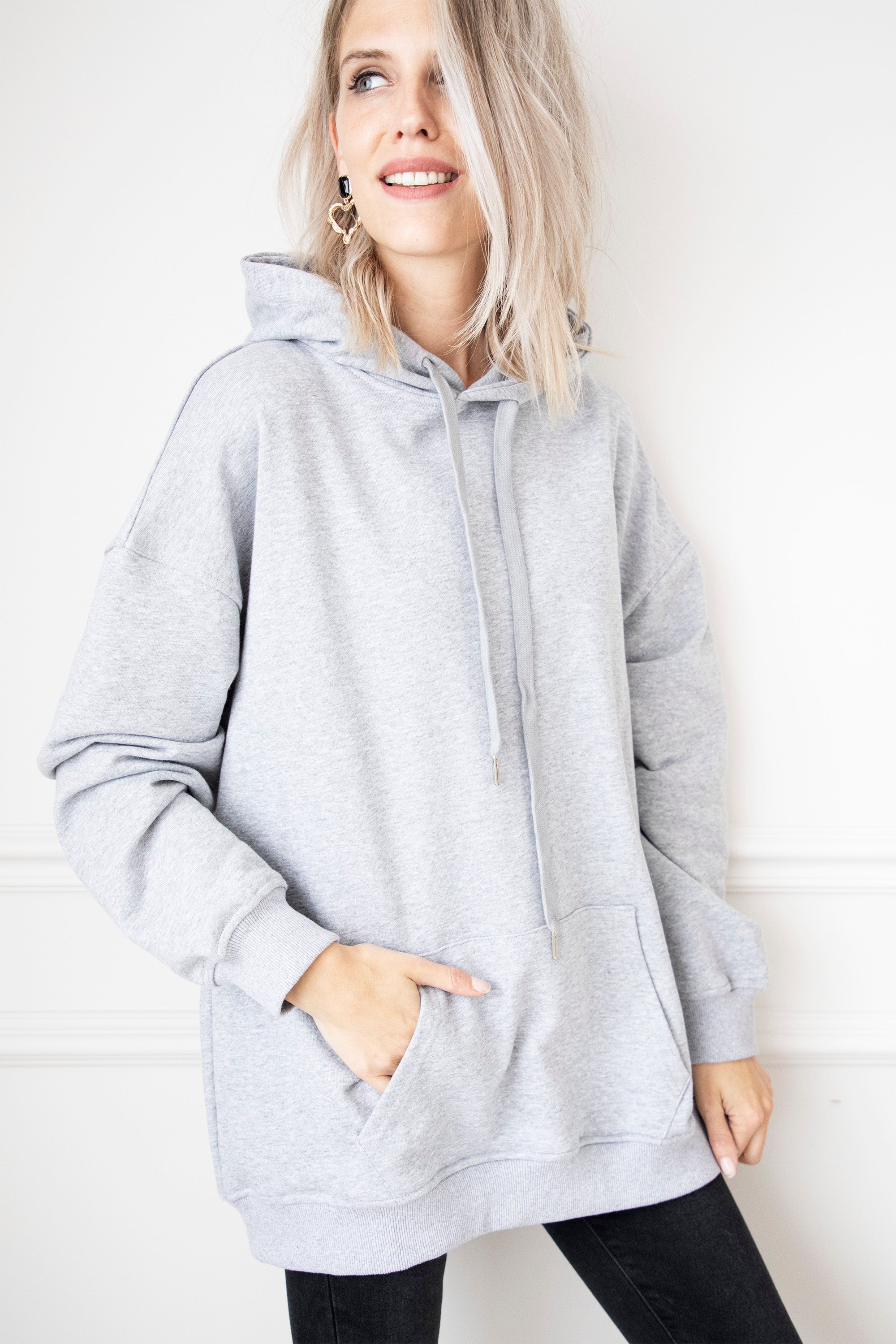 Long Comfy Days Grey - Sweater