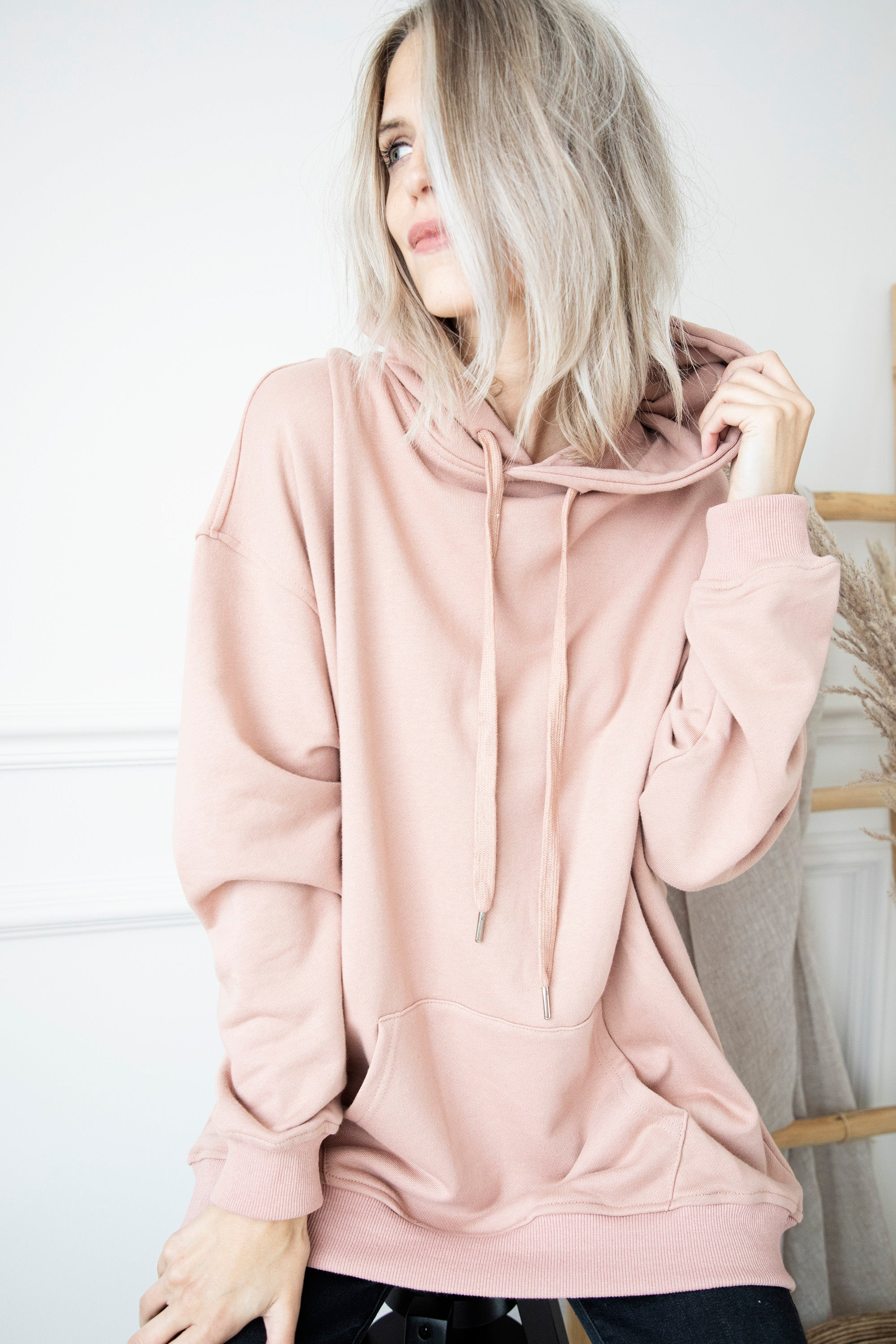 Long Comfy Days Pink - Sweater