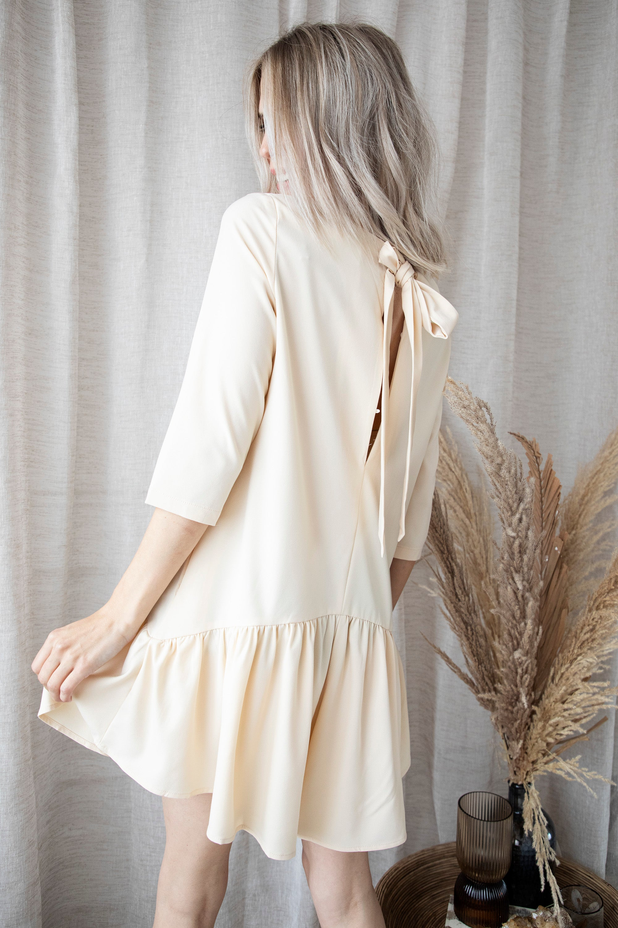 Those Fabulous Nights Beige - Playsuit