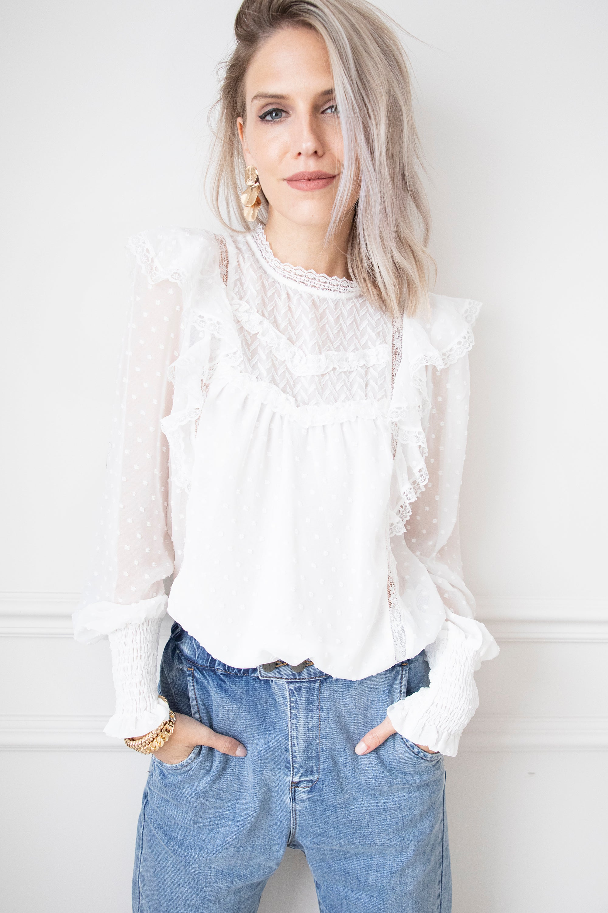 The Most Romantic White - Blouse