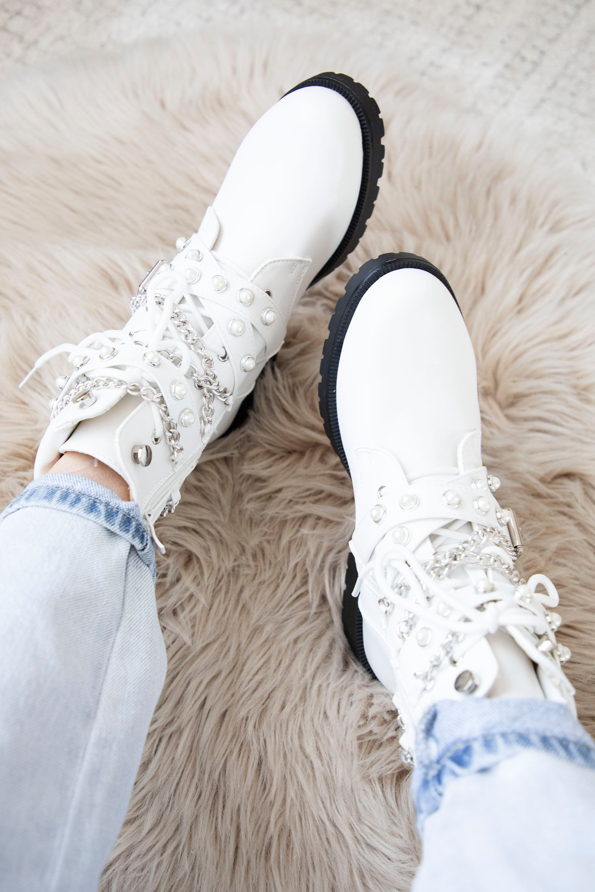 Just Stay Cool White - Boots