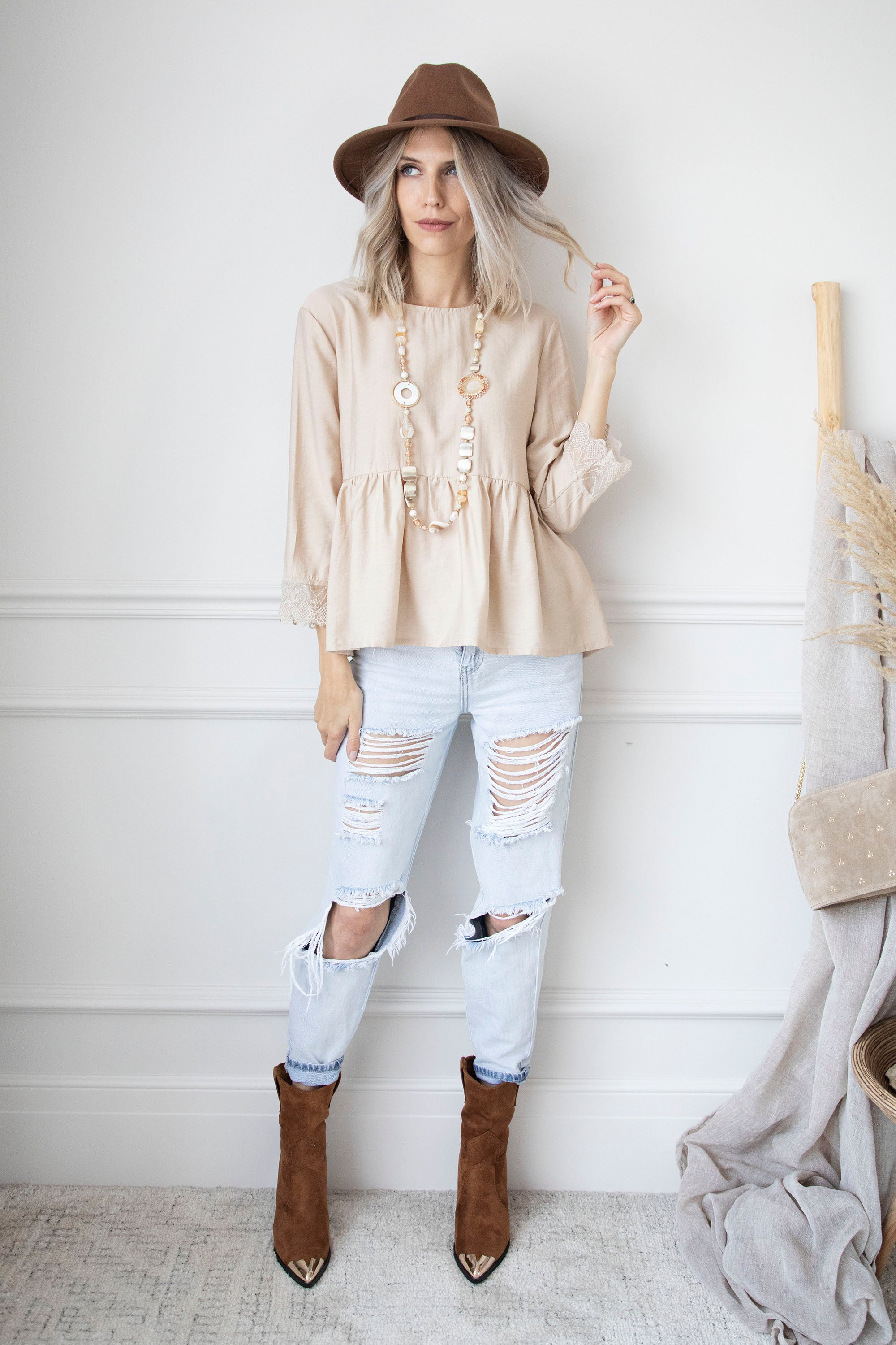 I'm Back Beige - Blouse