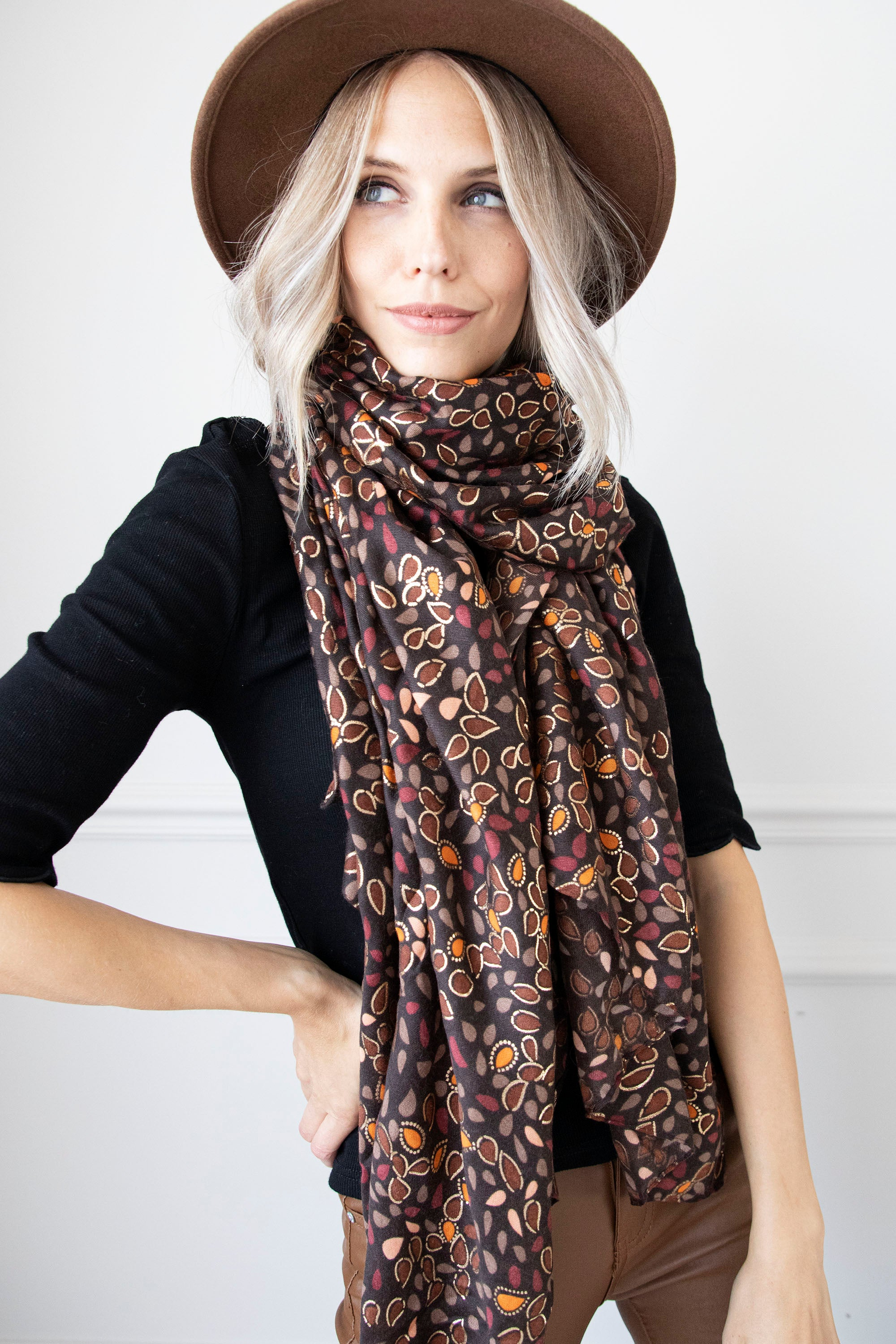 Fall Fever Brown Mix - Sjaal