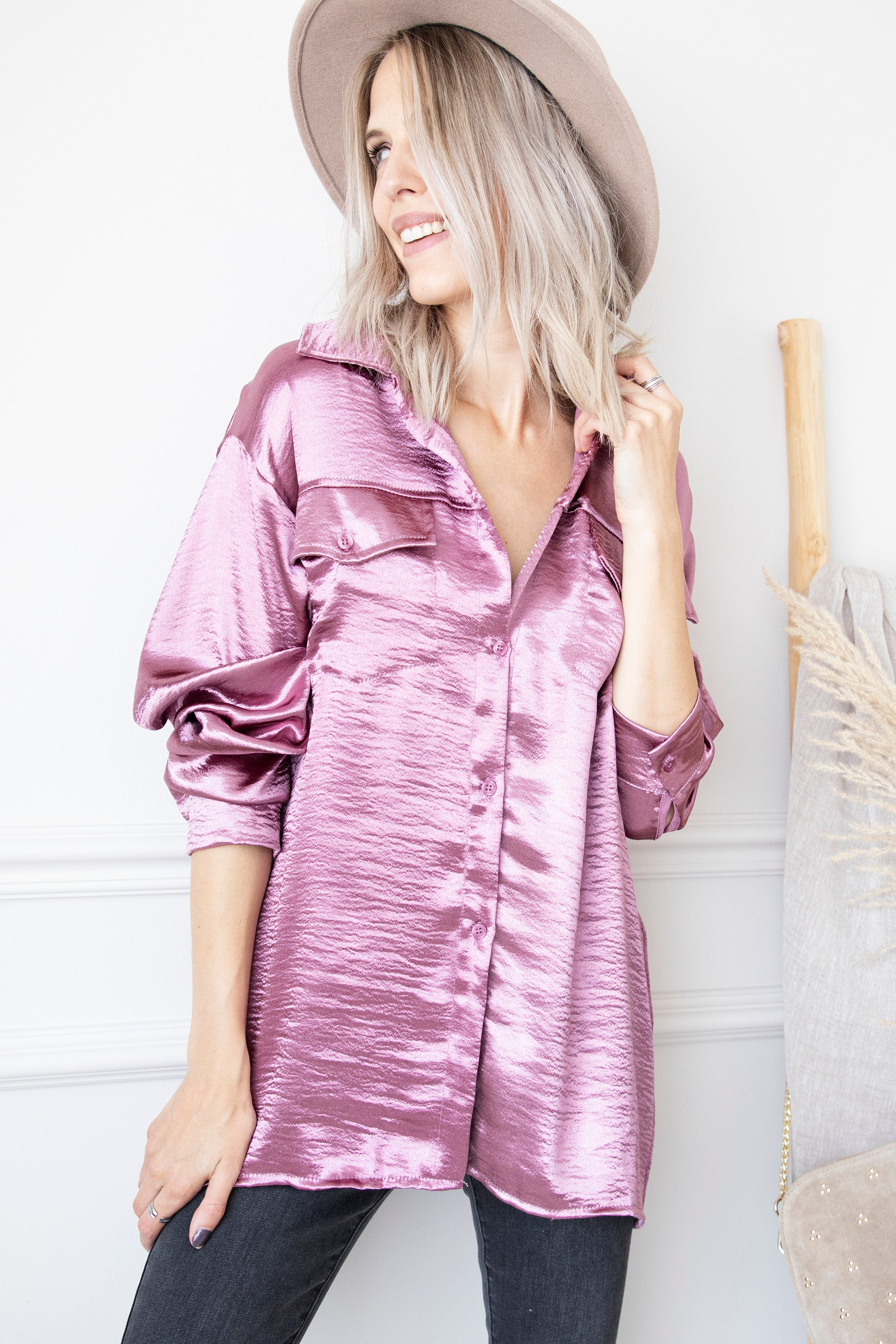 I'm Such A Diva Violet Metallic - Blouse